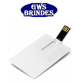 Pen Drive Cartão 8gb Para Personalizar (pen Card) - 10 Unid.