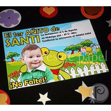 Sapo Pepe Invitaciones Cumpleaños Tarjetas Personalizada