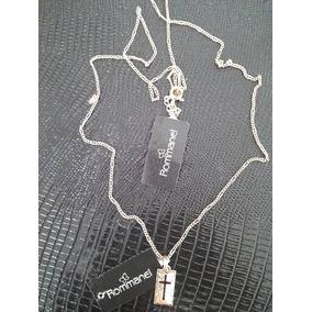 Conjunto Masculino Cordão 60cm+crucifixo Rommanel Folheado