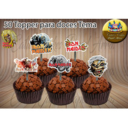 Iron Maiden Rock Vinil 50 Tag Toppers Apliques Para Doces