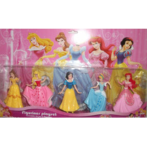 Kit 5 Bonecas Princesas Disney Bela Ariel Cinde Neve Aurora