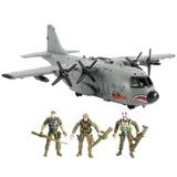 Ab 115 Avion Tipo Hercules 1/18 Bbi Gi Joe Militar Humvee