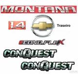 Emblemas Montana Conquest 1.4 Econoflex + Mala - Até 2010