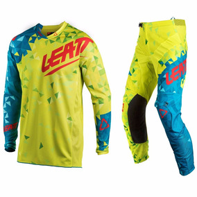 Kit Leatt Mx18 Gpx 4.5 Lite Off Road Lima Turquesa