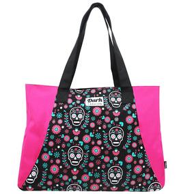 Tote Bag Fashion Mexican Skull Com Zíper - Colorizi