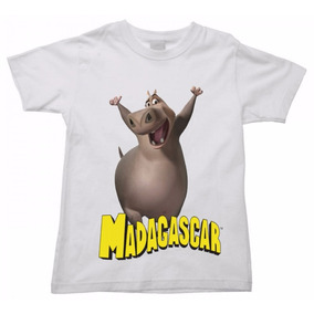 Camiseta Infantil Madagascar Melman Marty Glória Alex 03