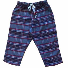 Pantalon De Niño; A Cuadros; De Diseño; De Viyela;blau Mini