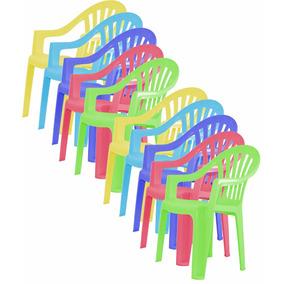 Paquete 10pz Silla Infantil Pvc Para Niños Colores Variados