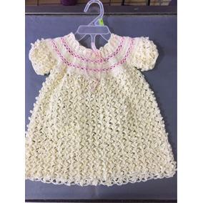 Vestido Color Perla Tejido En Crochet