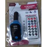 Adaptador Mp3 Auto Bluetooth Visor Control Usb Llamadas Fm