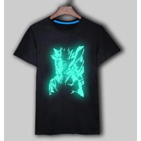 Camiseta Naruto - Estampa Brilha No Escuro - Pronta Entrega