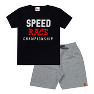 Roupas Meninos Kit 5 Conjuntos Verão Camiseta E Bermudas