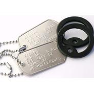 Chapas Dog Tags De Identificacion Militar Originales Usa