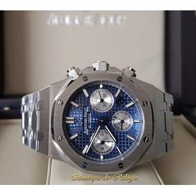 Relógio Máquina Eta Modelo Ap Roo Dial Azul Bracelete 41mm