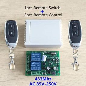 Controle Remoto Interruptor Ac 250 V 110 V 220 V 2ch Relé