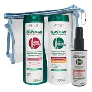 Kit Guanxuma Shampoo Condicionador Tônico Redução 100% Queda