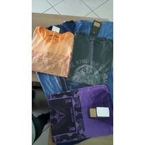 Kit 05 Camisas De Malha Estampas Variadas