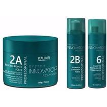 Base Relaxante, Ativador Guanidina Forte, Shampoo Innovator