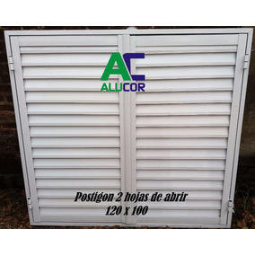 Postigon De Aluminio Blanco 120x100