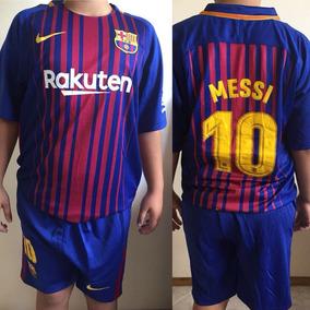 Conjunto Kit Niño Barcelona 2017 Camiseta Short Messi