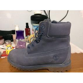 Bota Couro Timberland Yellow Boot 6 Premium W Azul