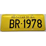 Placa De Carro Antiga Amarela - Somente Placa Traseira