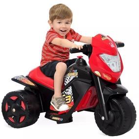 Moto Elétrica Infantil Vermelha Preta Criança Frete Gratis