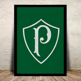 Poster Quadro Palmeiras Palestra Moldura E Vidro 45x35cm #4