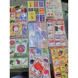 12 Pz De Loterias Didacticas/babyshower/primaria/ingles