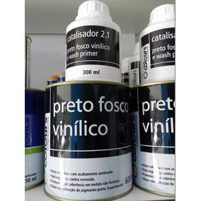 Tinta Preto Vinilico 600ml + 300ml Catalizador Maxi Colours