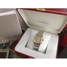 Cartier Santos Galbee Acero & Oro 18k Fase Lunar