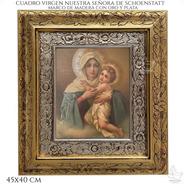 Cuadro Virgen Devocion Mariana Peregrina Schoenstatt 45x40cm