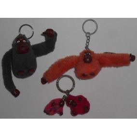 Lote2 Com 4 Chaveiros Macaco Kipling Antigos Originais
