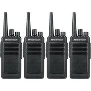 Kit X 4 Handy Radio Walkie Talkie Newvision Uhf 16 Canales