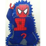 Piñata Bienvenido Combo Del Hombre Araña Cotillones