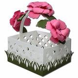 Cesta Flores Jardim Decoração Picnic - Arquivo Silhouette