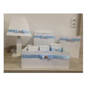 Kit De Higiene Personalizado Em Azul E Branco