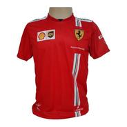Camiseta Leclerc Ferrari 2021 - Vermelho