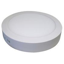 Lampara Panel De Sobreponer Plafon Redondo Led 18w Blanco