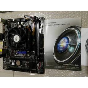 Tarjeta Madre Asrock Fm2a55m-vg3+ Ddr3+ Procesador Combo