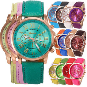 Lote 10 Relojes Geneva Mujer Clasico Romano Vintage A578