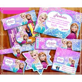 Kit Imprimible Frozen Anna Fiesta Etiqueta Personalizada