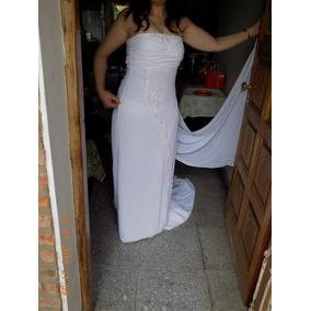 Vestido De Novia Con Cola Postiza -lomas De Zamora