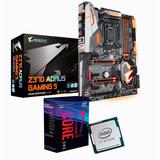 Combo De Actualización Intel I7 8700k + Aorus Z370 Gaming 5