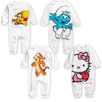 Pijama Macacão Meninos Meninas Recém-nascido Desenho Animado