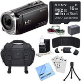 Sony Hdr-cx455/b Full Hd Handycam Camcorder Bundle Includes