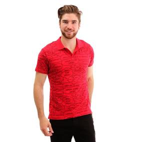 Camisa Polo Roja Estampada Para Hombre Hang Ten 61f2c1a6168db
