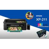 Impresora Multifuncional Epson Xp211 Wifi + Sistema Continuo