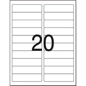 Etiqueta Adesiva Inkjet/laser 24.5x101.6 2000und Aquicompras