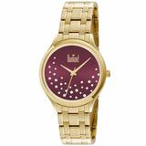 Relógio Dumont Feminino Dourado - Du2036lst/4n - Nfe